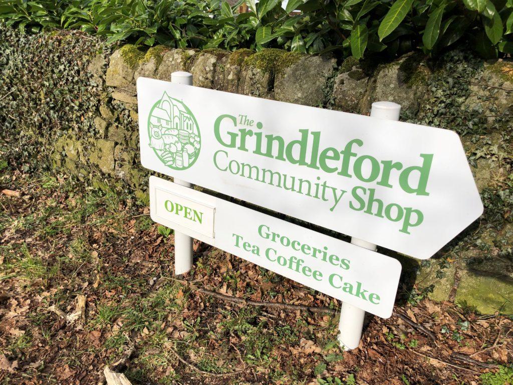 Grindleford Shop Sign